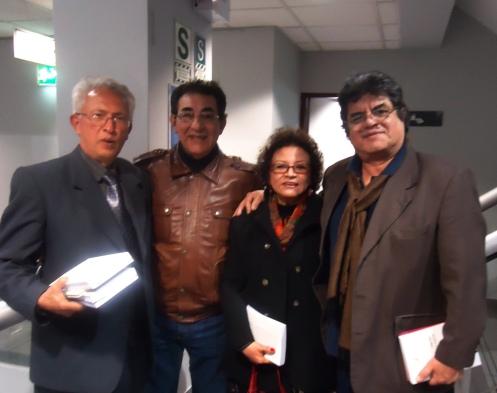 Varias  décadas  después,  aquí seguimos  Jorge Nájar, Ricardo  Falla  Barreda,  Sonia Luz Carrillo  y Jorge  Pimentel.