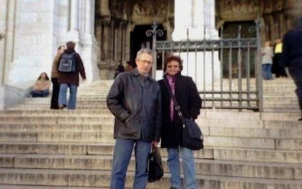 Jorge  Nájar  y  Sonia Luz Carrillo.  Montmartre, París, 2005