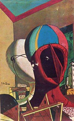 Máscaras. Giorgio de Chirico, 1917, Colección Riccardo Jucker, Milán