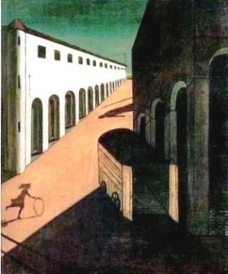 Misterio y melancolía de una calle. Giorgio de Chirico, 1914