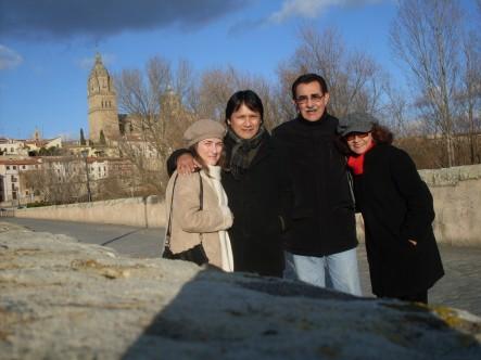 María Koutentaki, Carlos García Miranda, Ricardo Falla Barreda y  Sonia Luz Carrillo. Salamanca, febrero, 2012