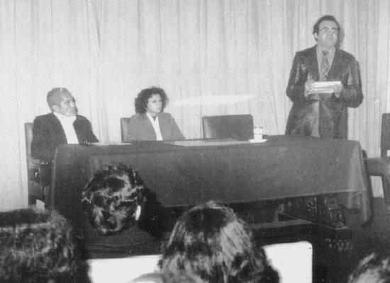 Luis Alberto Ratto. Presentación del libro ...y el corazón ardiendo. ANEA, Julio 1979