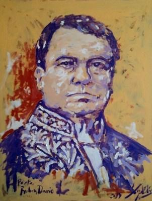 Rubén Darío por Miguel Elías (146x114  Técnica mixta sobre lienzo) Salamanca, 2014