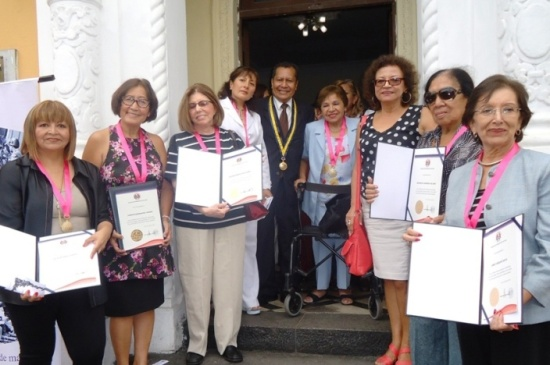 Periodistas reconocidas por el Colegio de Periodistas de Lima. 8 de marzo 2014
