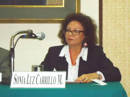 Sonia Luz Carrillo.