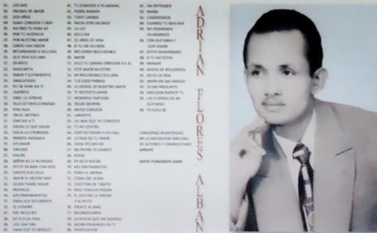 Maestro Adrián Flores Albán, autor de Alma, corazón y vida y decenas de otras composiciones del cancionero criollo peruano.