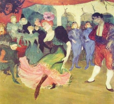Marcel Lender baila El bolero, oleo 145x 150 cm. 1896