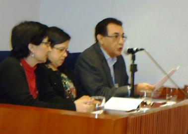 Mg. Ricardo Falla Barreda expone acerca de 'La fundación de universidades por la Orden de Predicadores'.