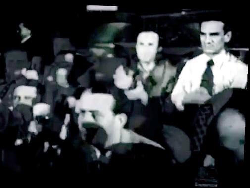 Captura de un filme donde Vallejo aparece junto a Antonio Machado en 1937. Revista Velaverde http://www.revistavelaverde.pe/buscando-a-cesar-vallejo/