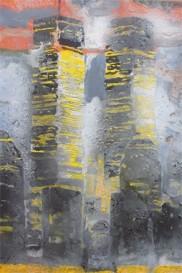 Torres gemela. Ángel Uranga. Oleo. 2002