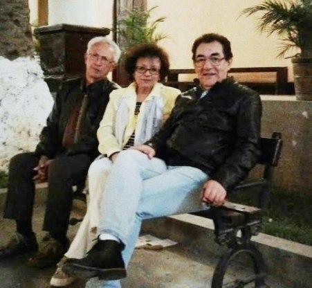 Jorge Nájar, Sonia Luz Carrillo y Ricardo Falla Barreda. Huánuco, 2016