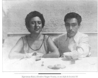 Vargas Vicuña y Esperanza Ruiz. Foto: Revista La Casa de Cartón. II Época N° 13, 1997